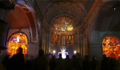 monestir_sant_benet_interior_iluminat